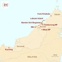 Routenkarte zur Reise Mulu & Brunei: Höhlen und Dschungelwelten