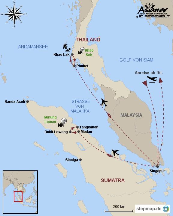 Paket Im Reich der Orang Utans und Strandparadies Khao Lak