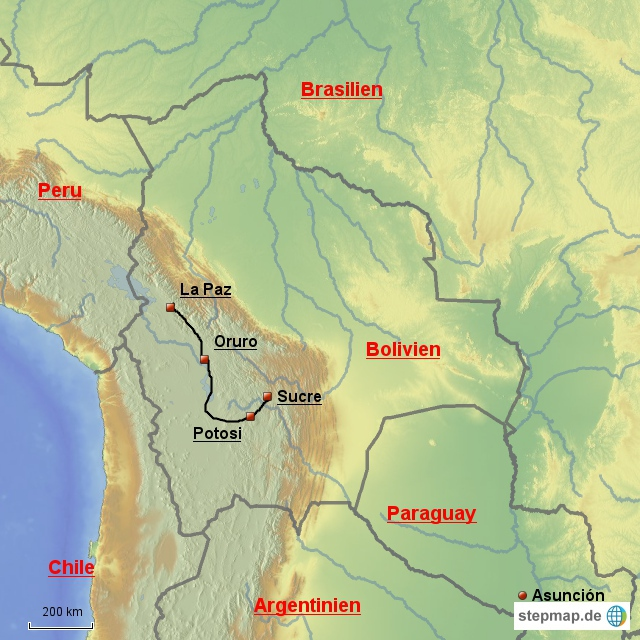 Oruro - La Paz 200 km