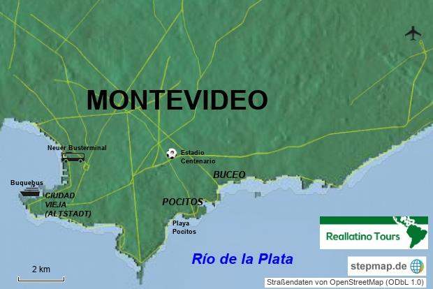Montevideo Übersichtskarte