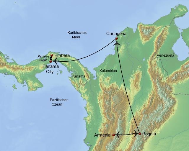 Kolumbien - Panama