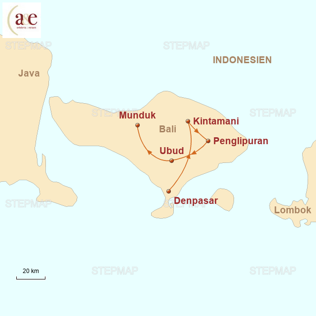 Routenkarte zur Reise Zauberhaftes Inselparadies