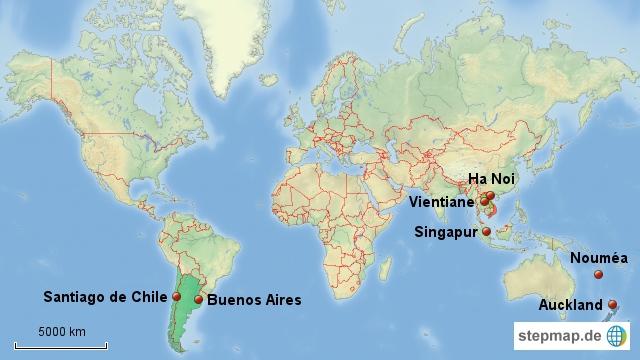 meine geplante Route. Zumindest von den Flugdaten her.