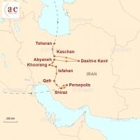Routenkarte zur Reise Iran – Altes Persien neu entdeckt