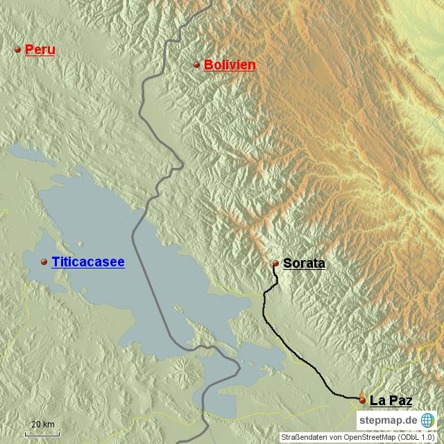 La Paz - Sorata 160 km