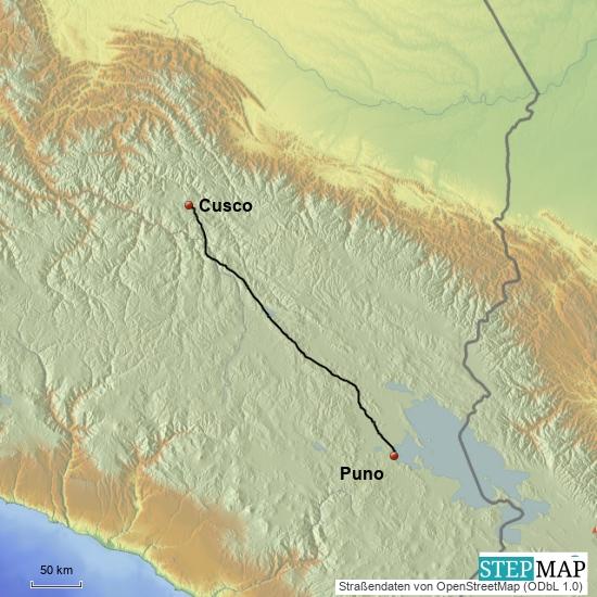 Puno - Cusco   400 km