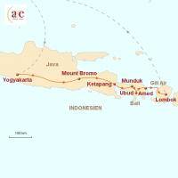 Routenkarte zur Reise Inselträume: Java, Bali & Gili Air