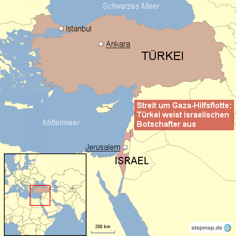 Türkei weist israelischen Botschafter aus