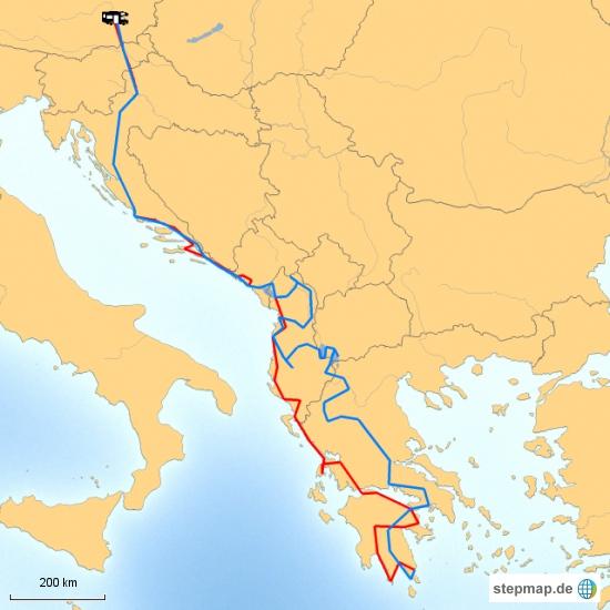 Das ist sie also, die komplette Route. 7200 Kilometer in dreieinhalb Monaten.