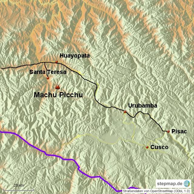 Pisac - Santa Teresa  ca. 200 km