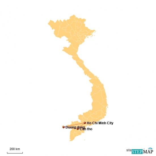 I'm zweiten Teil geht's von Saigon auf den Mekong und anschließend nach Kambodscha. Im Süden Kambodschas passieren wir wieder die Grenze nach Vietnam und lassen 's uns aufgerufen Insel Phu Quoc gut gehen.