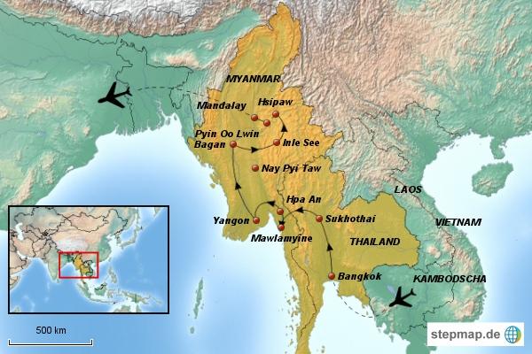 Thailand und Myanmar