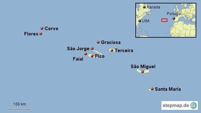 azoren karte Unterkünfte auf den Azoren auf allen Inseln buchen. São Miguel  azoren karte