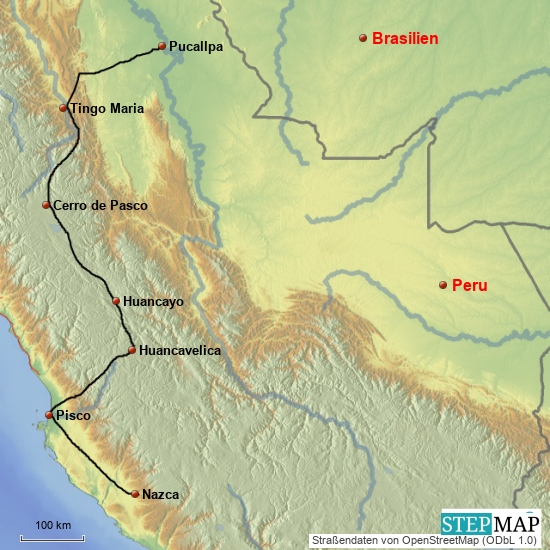 Nazca - Pucallpa 1400 km, mehrere Tage
