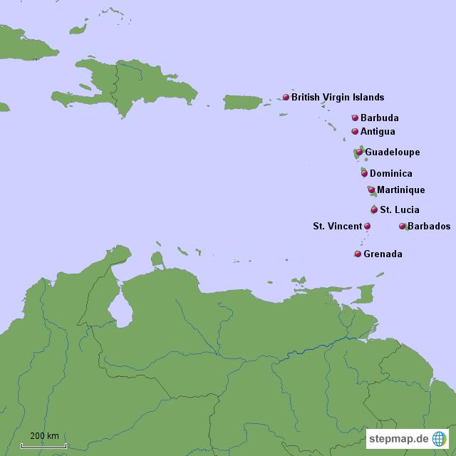 Kleine Antillen - Inseln über dem Winde Länderinfo