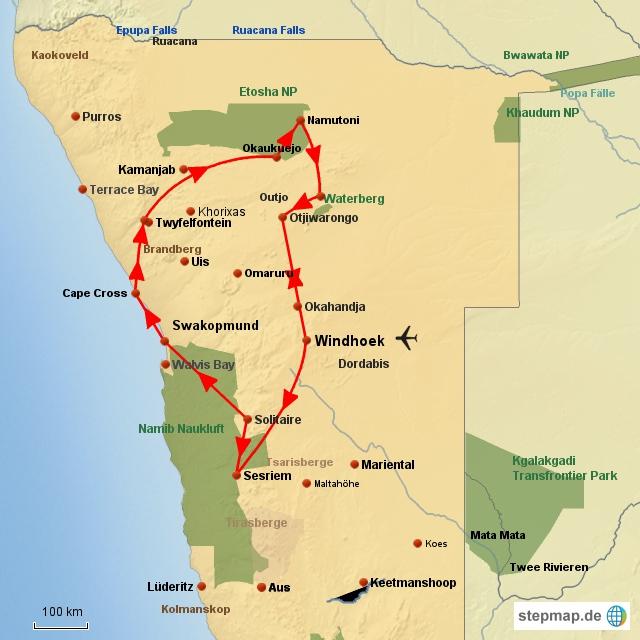SW Namibia zum Kennenlernen