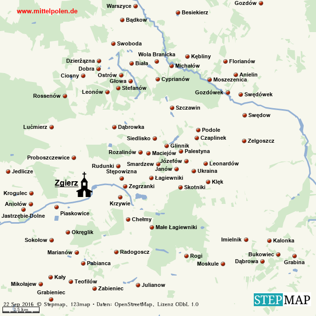 Karte Zgierz - Endfassung