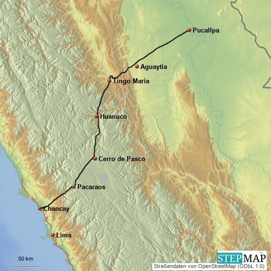 Pucallpa - Pazifik, 2 Tage, ca. 700 km