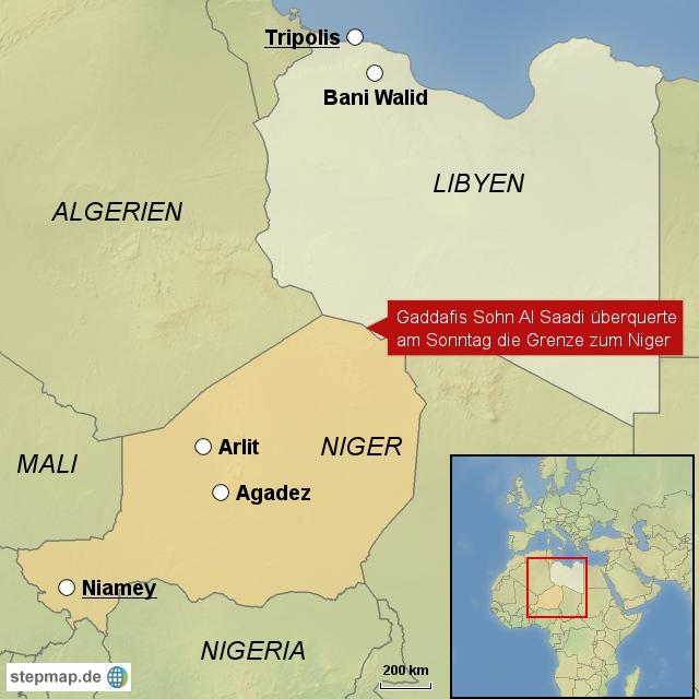 Gaddafi-Sohn flüchtet ins Nachbarland Niger