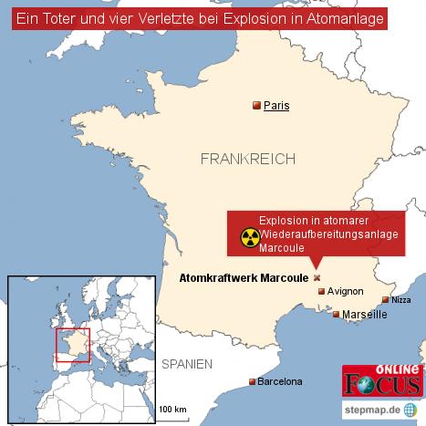 Explosion in französischem Akw