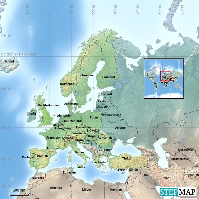 Europa - bereiste Länder
