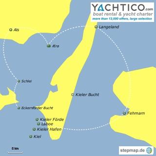 Ferien Kieler Bucht - Yacht mieten auf der Ostsee bei Yachtico.com