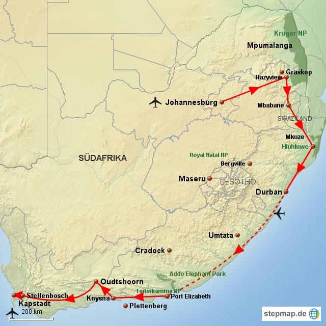 SA Südafrikanische Odyssee