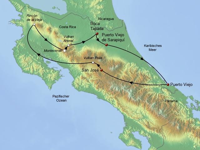 Costa Rica Drive und Aktiv