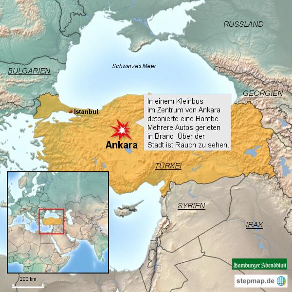 Bombenanschlag in Ankara