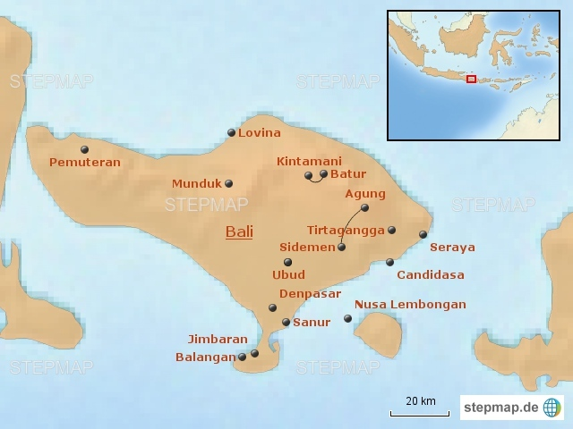 Bali Bausteine Karte