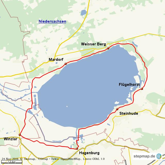 steinhuder meer karte Radweg Steinhuder Meer | Fahrradtouren in Deutschland