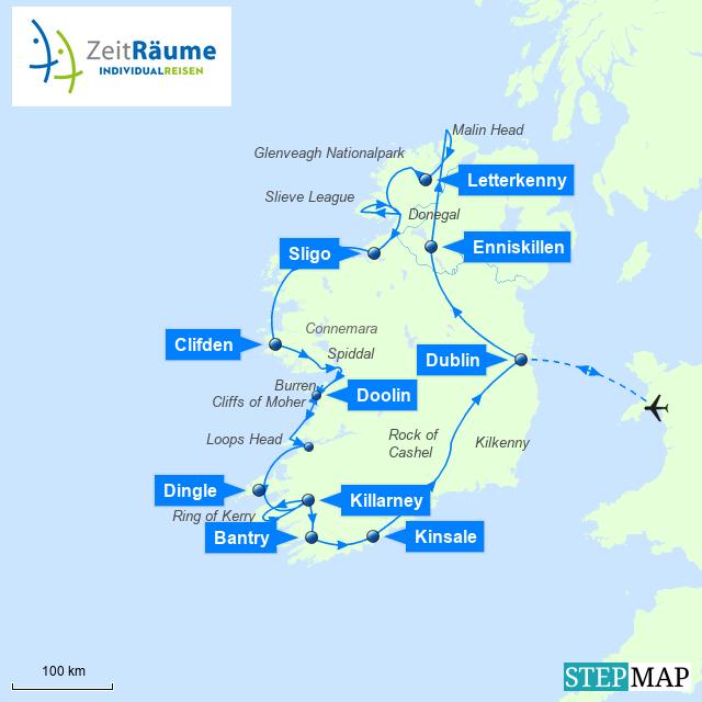 Irland Mietwagen Rundreise - Spektakulärer Wild Atlantic Way