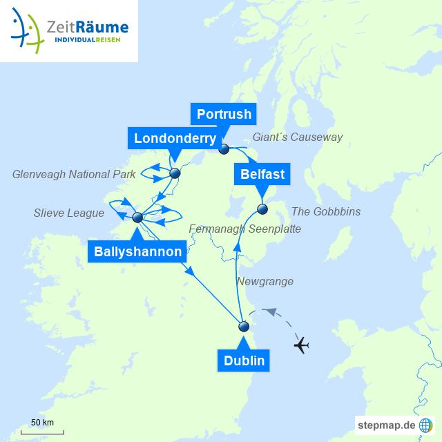 Irland Mietwagen Rundreise - Entspanntes Irland mit Ferienhaus