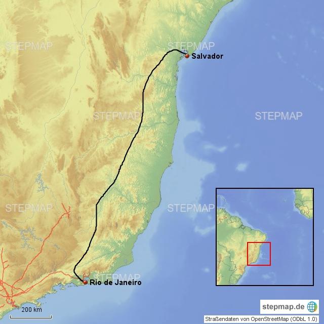 Rio - Salvador 1500 km, 30 Stunden