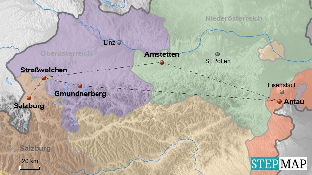 Sch?tze und Fu?ball in Salzburg und Amstetten