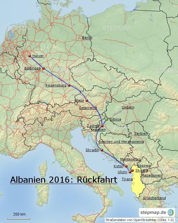 Albanien 2016: Rückfahrt