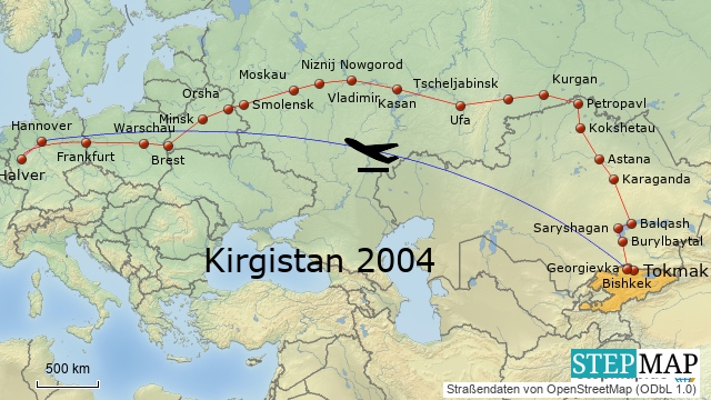 Kirgistan 2004: Die Fahrt