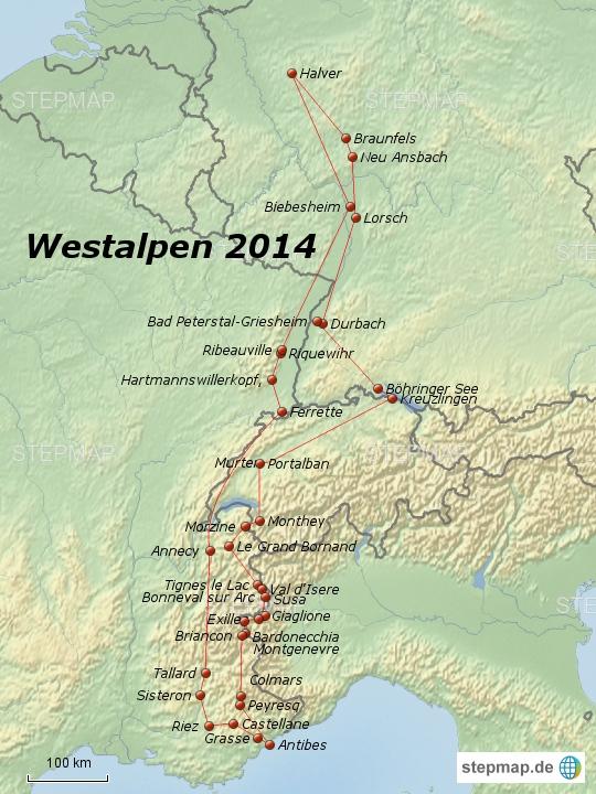 Westalpen 2014
