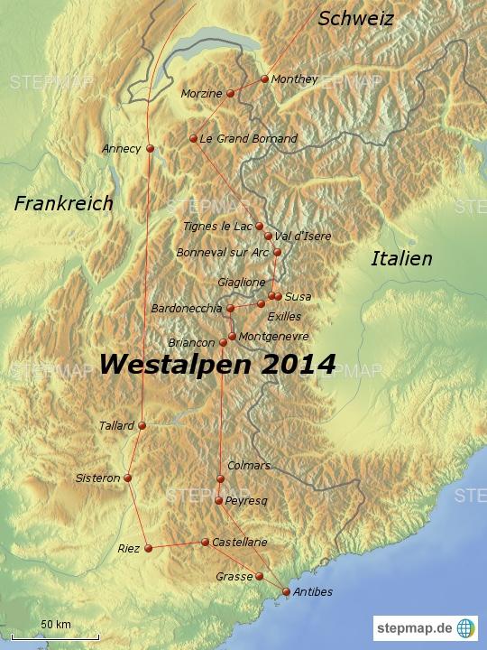 Westalpen 2014: Ausschnitt