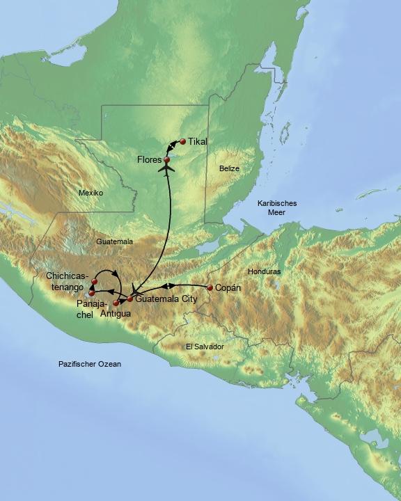 Geheimnisvolles Guatemala ohne Nachprogramm