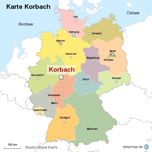 Karte Korbach