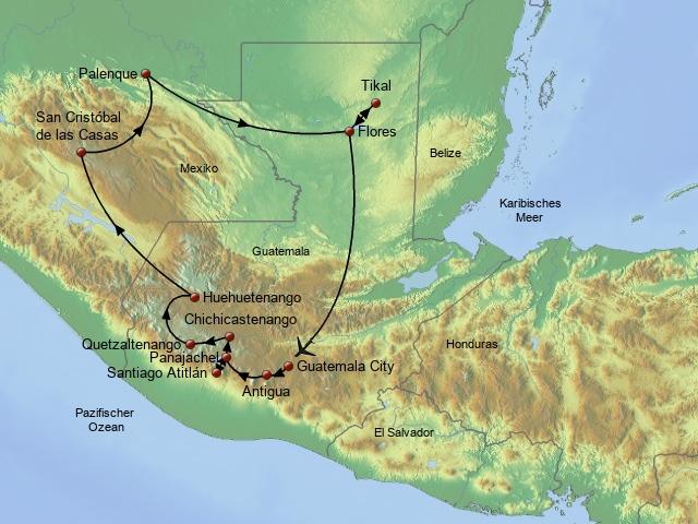 Guatemala und Chiapas