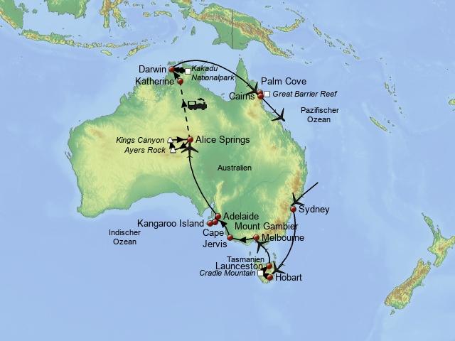 Quer durch Australien Katalog