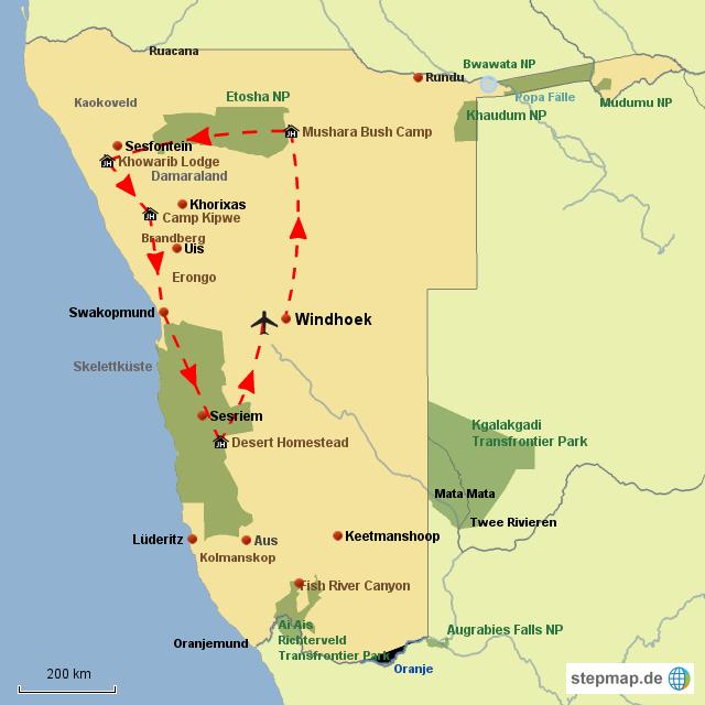 SW Namibia aus der Vogelperspektive