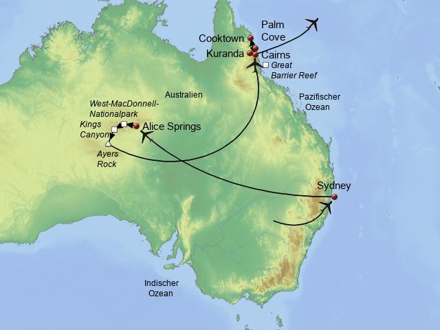 Rundreise Hong Kong Australien, Fiji