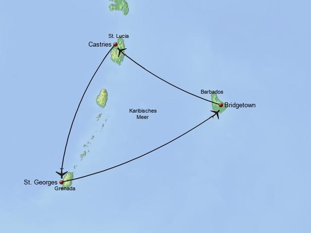 Island Hopping Barbados, St. Lucia & Grenada