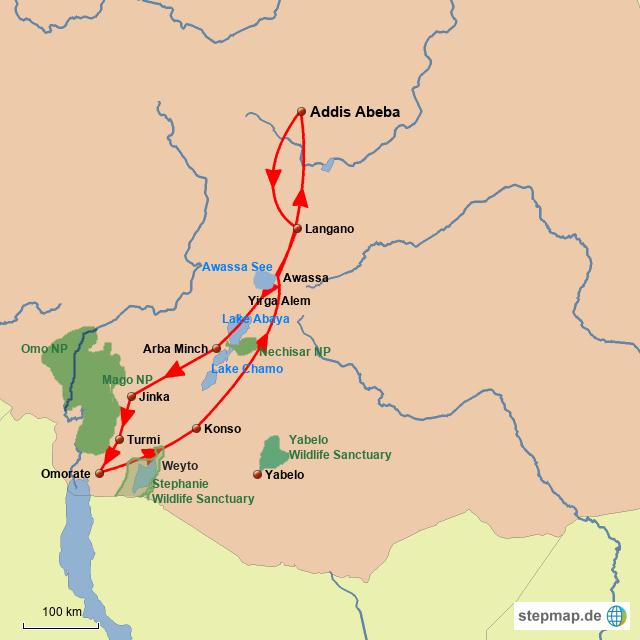 ET Rift Valley & Völker im Süden