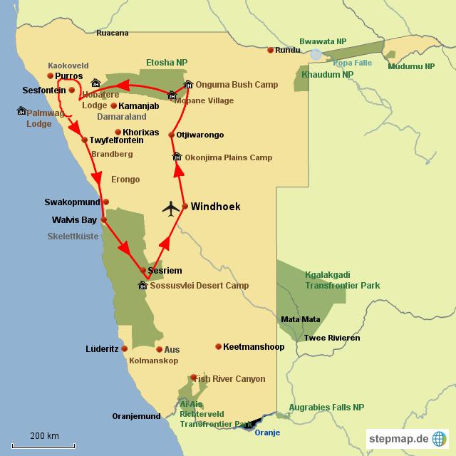 SW Abenteuer Namibia Hochwertig