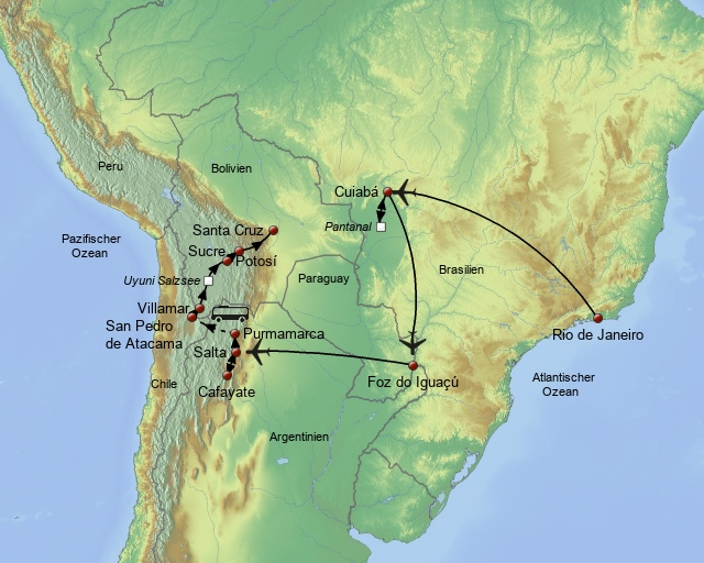 Natur und Kultur Südamerikas entdecken