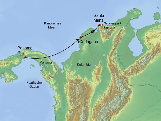 Panama - Kolumbien